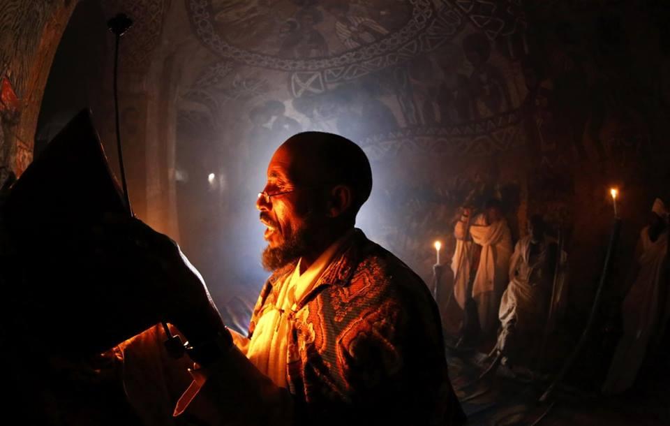 Prayer at Tigrai Rock Hewn CHurches